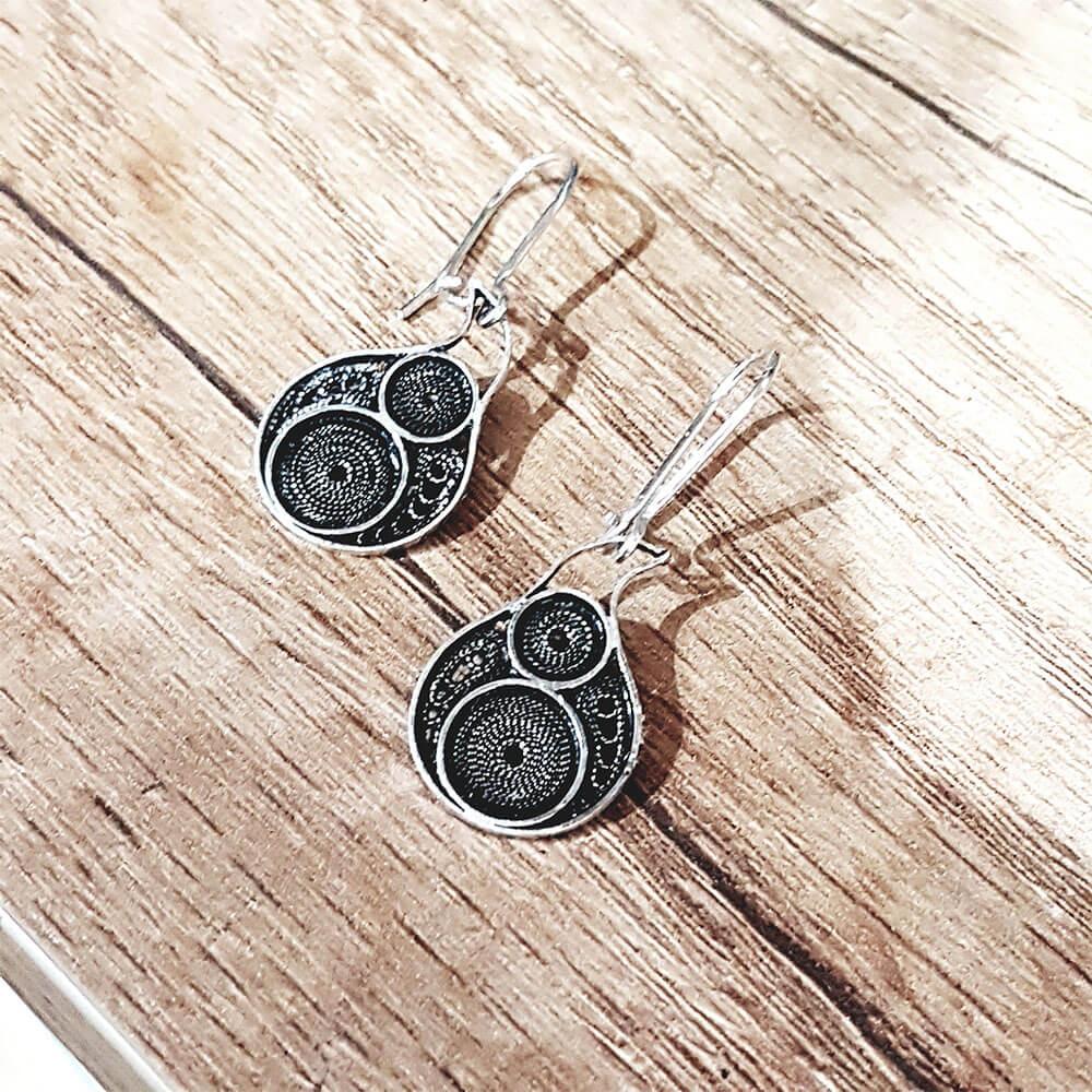 Silver earrings 1430.1