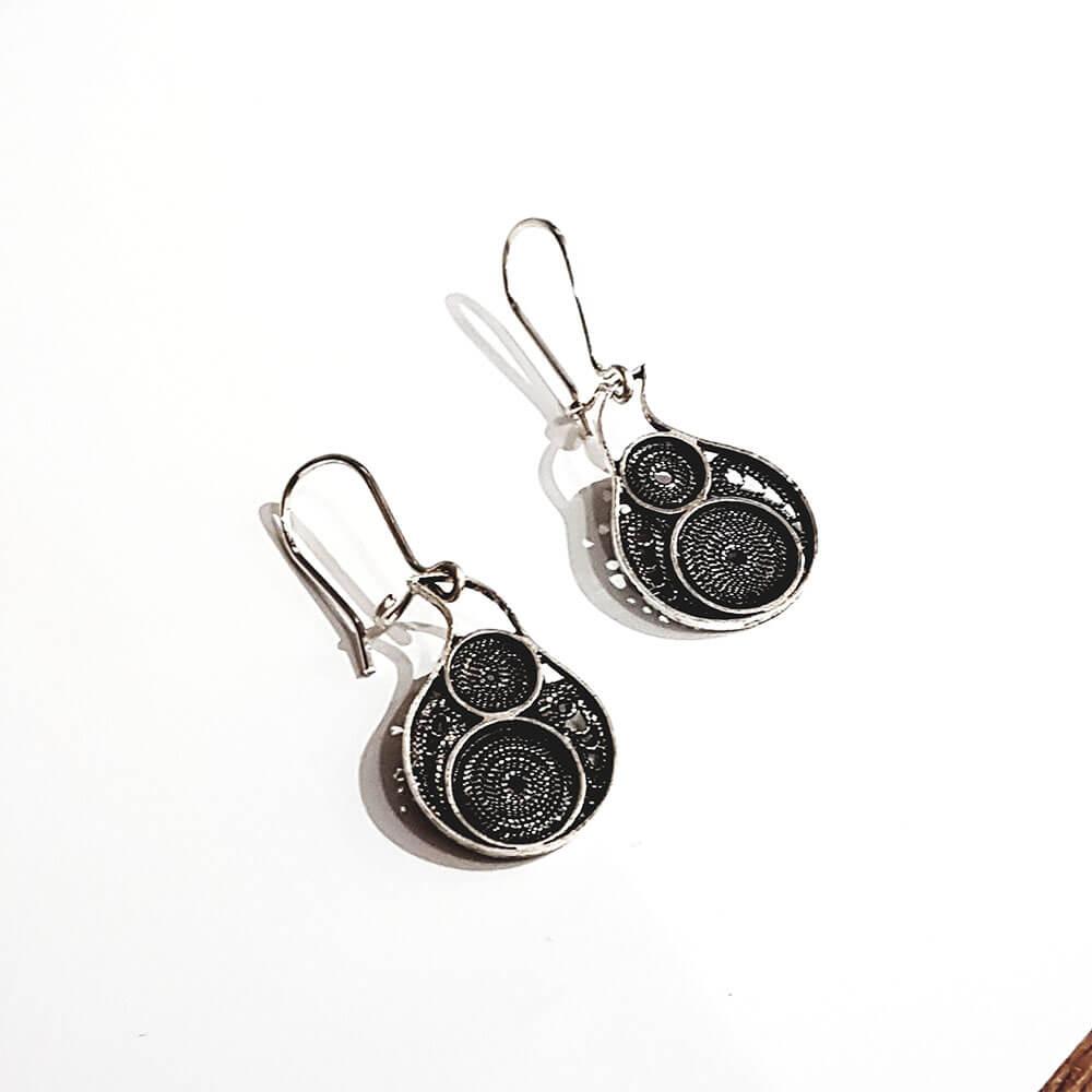 Silver earrings 1430.2
